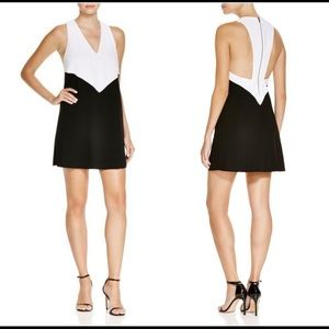 ALICE + OLIVIA | maya trapeze dress black & white
